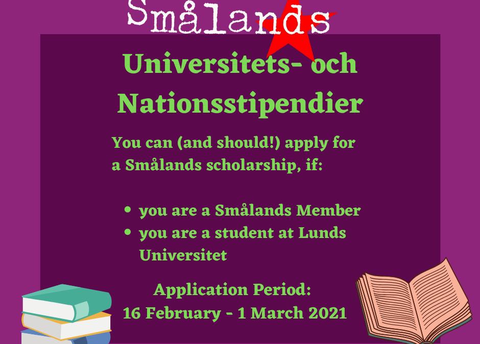 Scholarships: Spring Semester 2021